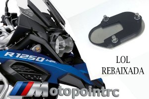 AMPLIADOR DA BASE DO DESCANSO LATERAL BMW R1250 GS /ADV LC KIT REBAIXADO