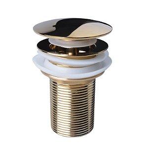 Válvula Lavatório Banheiro Pia Cuba Click Dourada