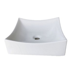 Cuba de cerâmica para banheiro/lavabo 40x40x12 cm