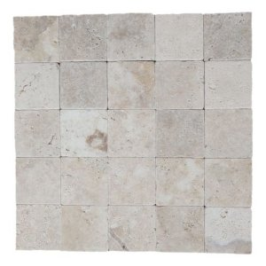 Anticato em Travertino Romano 1,2cm X 10cm X 10cm - M²