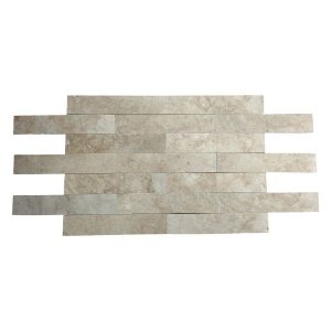 Pedra Decorativa Em Travertino Romano 1,2cm X 8cm X 40,6cm - M²