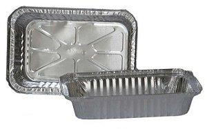Bandeja Alumínio Marmitex  1150Ml c/ 100Un - Lifeclean