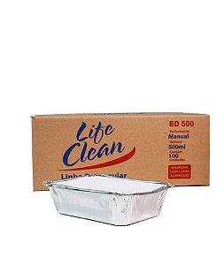 Bandeja de Alumínio 500ML C/ 100UN - Lifeclean