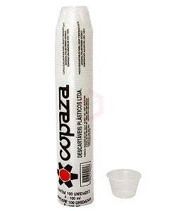 Pote 100ML Transparente Caixa C/ 20 Pacotes 100Un - Copaza