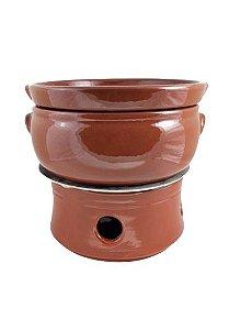 Rechaud Ceramica Marrom