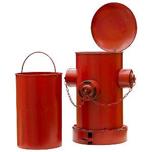 Lixeira tipo hidrante