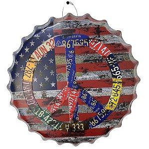 Placa de metal decorativa 35 cm