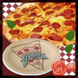 Prato pizza jogo com 6 peças