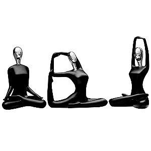 Escultura yoga decorativa - posição meditação 28 cm