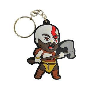 Chaveiro Emborrachado Kratos