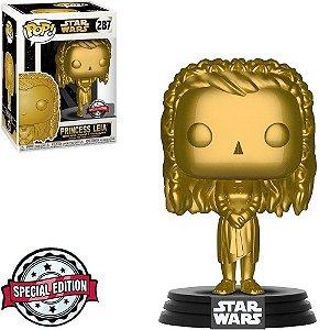 Funko POP! Star Wars - Princesa Leia Gold Edição Especial