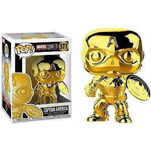 Capitão América 377 Pop Funko Chrome Gold Marvel