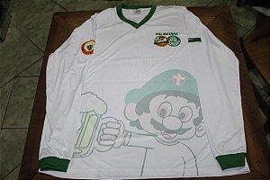 Camiseta Manga Longa Feminina branca com mascote