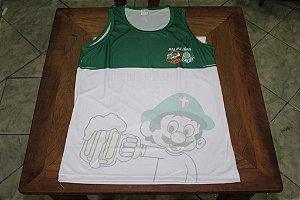 Camiseta Regata Verde e Branca