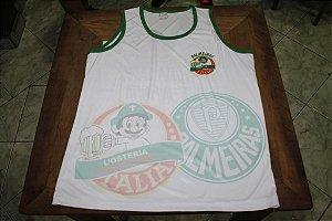 Camiseta Regata Branca com escudos