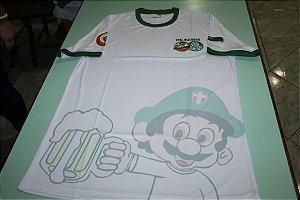 Camiseta Masculina Branca com mascote