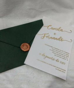 Convite de Casamento Moderno Camila e Fernando