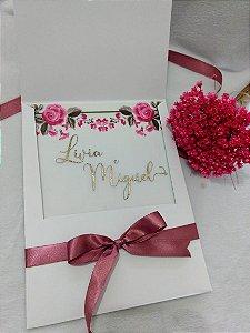 Convite de Casamento Translucido