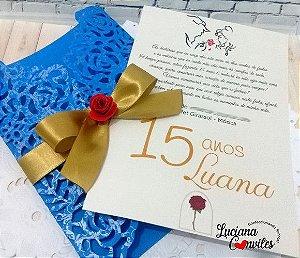 Convite 15 Anos A Bela e a Fera