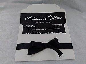 Convite de Casamento Mariana e Carlos