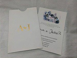 Convite de Casamento Aquarela Ana e João
