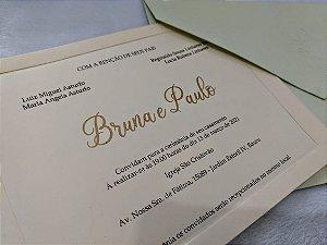 Convite de Casamento Clássico Bruna e Paulo