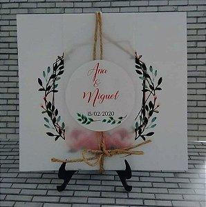 Mini Convite para Casamento Floral
