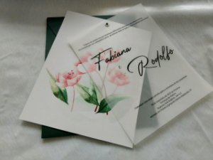 Convite de Casamento Fabiana e Rodolfo