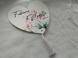 Leque Personalizado de Papel para Casamento
