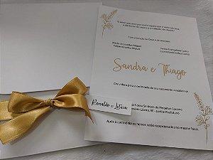 Convite de Casamento Sandra e Thiago