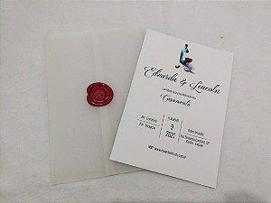 Convite de Casamento Minimalista Eduarda e Lincoln