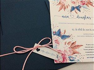 Convite de Casamento Coleção Flores