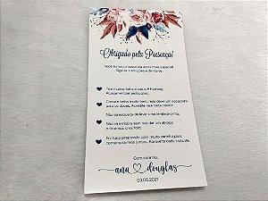 Cartão Agradecimento Casamento