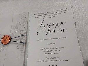 Convite de Casamento Artesanal com QR Code