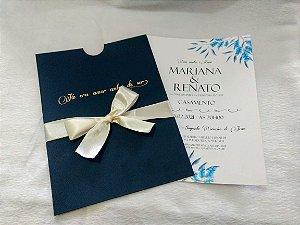 Convite de Casamento Floral Mariana e Renato