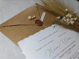 Convite de Casamento Rústico Chic