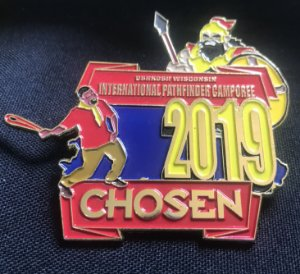 Lot - 05  Pin comemorativo ao Campori internacional chosen