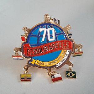 ARGANÉL/PREND. DE LENÇO, 70 ANOS, RECONCILIADO, C/ BANDEIRINHAS, DOURADO