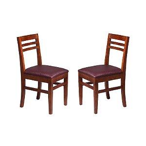 Conjunto - 2 Cadeiras Jade Estrutura em Madeira Maciça
