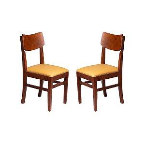 Conjunto - 2 Cadeiras Safira Estrutura em Madeira Maciça