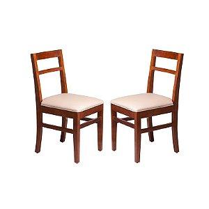 Conjunto - 2 Cadeiras Ágata Estrutura em Madeira Maciça