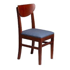 Cadeira Turquesa Estrutura em Madeira Maciça - Azul