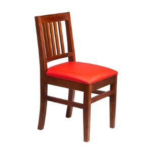 Cadeira Pérola Estrutura em Madeira Maciça - Cor Tijolo