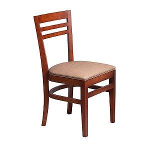 Cadeira Maceió Estrutura em Madeira Maciça - Capuccino