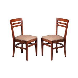 Conjunto - 2 Cadeiras Maceió Estrutura em Madeira Maciça