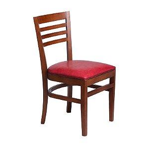 Cadeira Recife Estrutura em Madeira Maciça - Vermelho