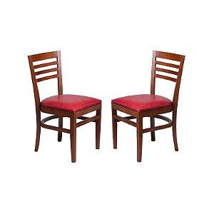 Conjunto - 2 Cadeiras Recife Estrutura em Madeira Maciça