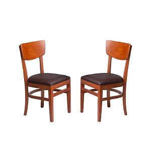 Conjunto - 2 Cadeiras Cuiabá Estrutura em Madeira Maciça