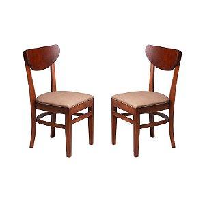 Conjunto - 2 Cadeiras Manaus Estrutura em Madeira Maciça