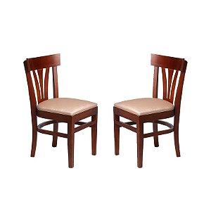 Conjunto - 2 Cadeiras Ipanema Estrutura em Madeira Maciça